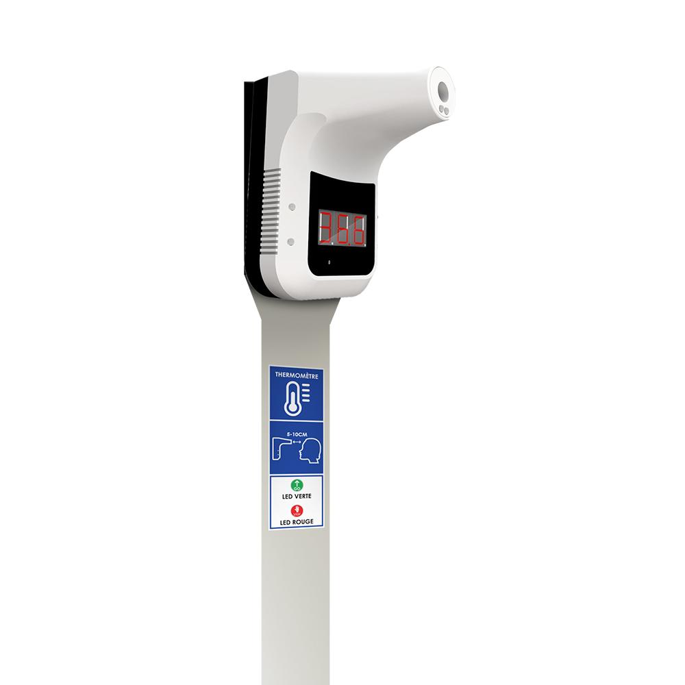 Distributeur de gel hydroalcoolique avec thermometre integré – inox – 2 litre