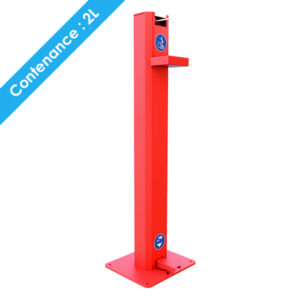 distributeur gel hydroalcoolique 2L sans contact Acier Rouge