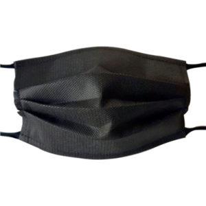 Masque en tissu noir lavable et réutilisable